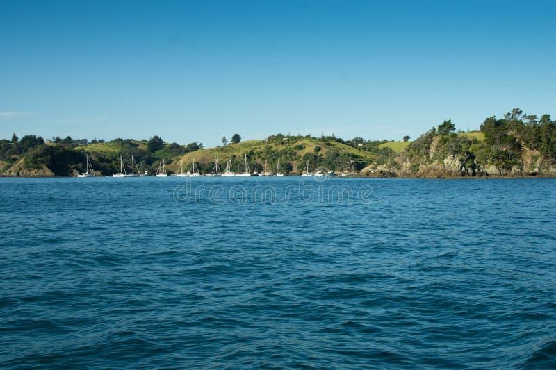 Port d'Auckland - baie occidentale images libres de droits