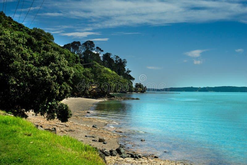 Port d'Auckland - plage de Maraetai photos libres de droits