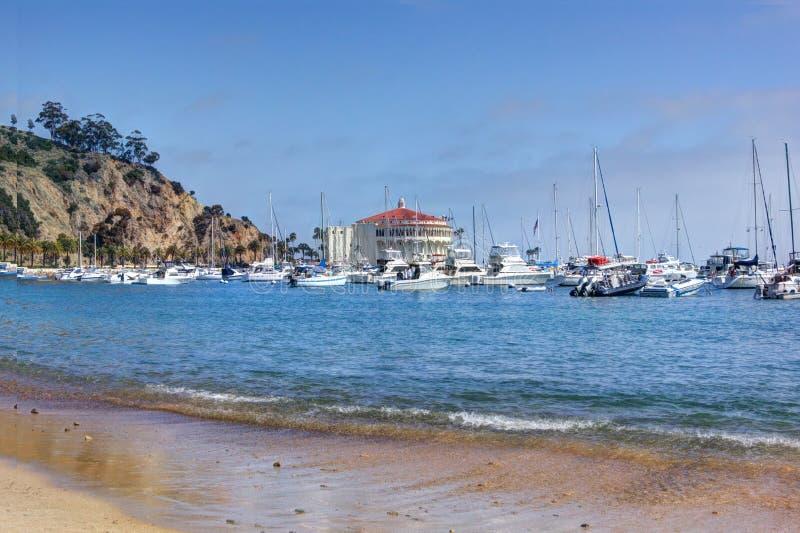 Port d'Avalon, île de Santa Catalina photographie stock