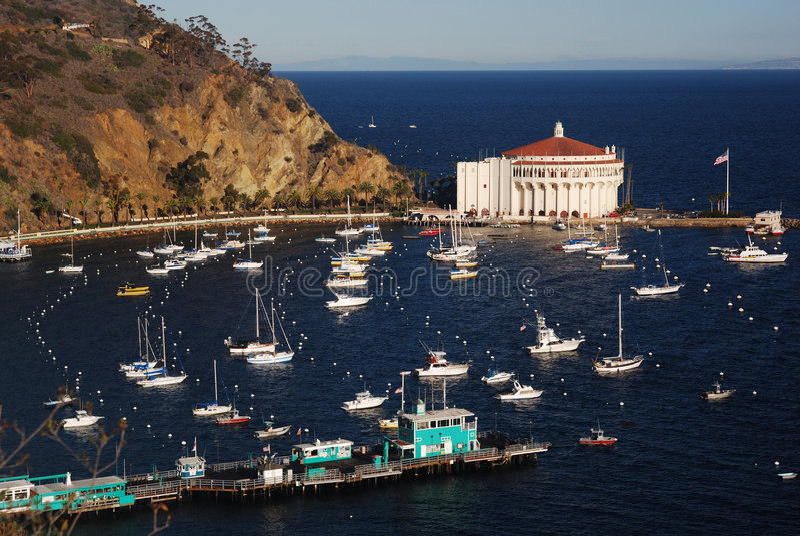 Port d'Avalon sur l'île de Catalina photos stock