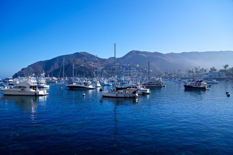 Port d'Avalon sur Santa Catalina image stock