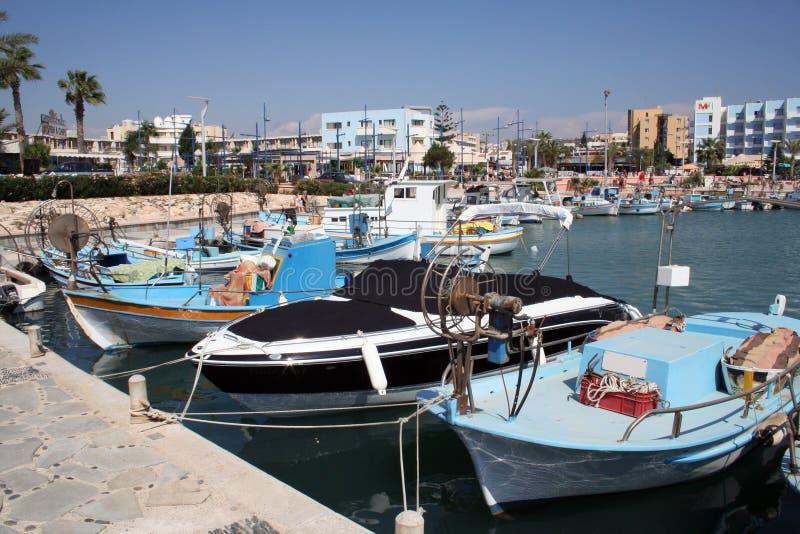Port d'Ayia Napa scénique image stock
