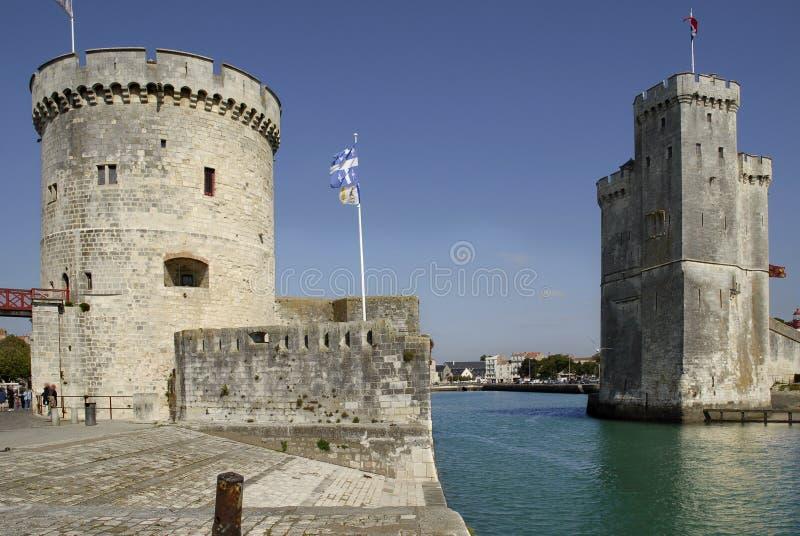 Port d'entrée de La Rochelle en France photos libres de droits