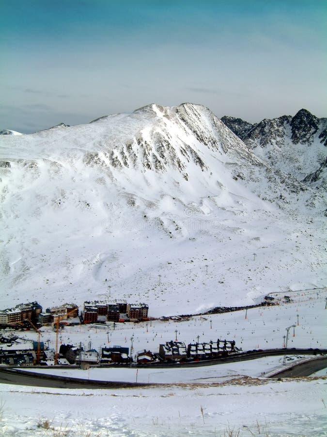 Port d'Envalira Andorra. Mountains above Port d'Envalira, Andorra stock images