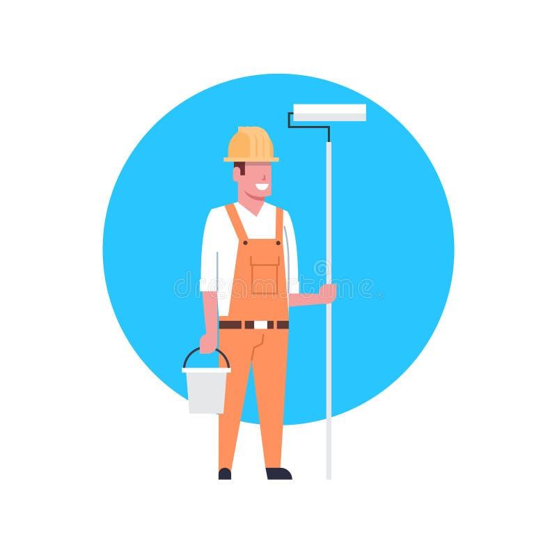 Port d'homme de décorateur d'Icon Painter Or de travailleur de la construction illustration libre de droits