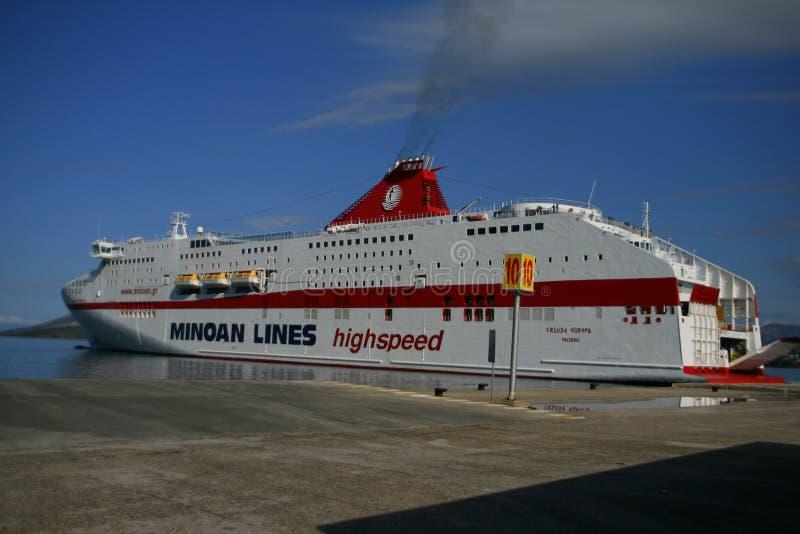 Port d'Igoumenitsa, Grèce photos stock