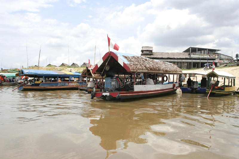 Port d'Iquitos, Pérou, Amérique du Sud photographie stock