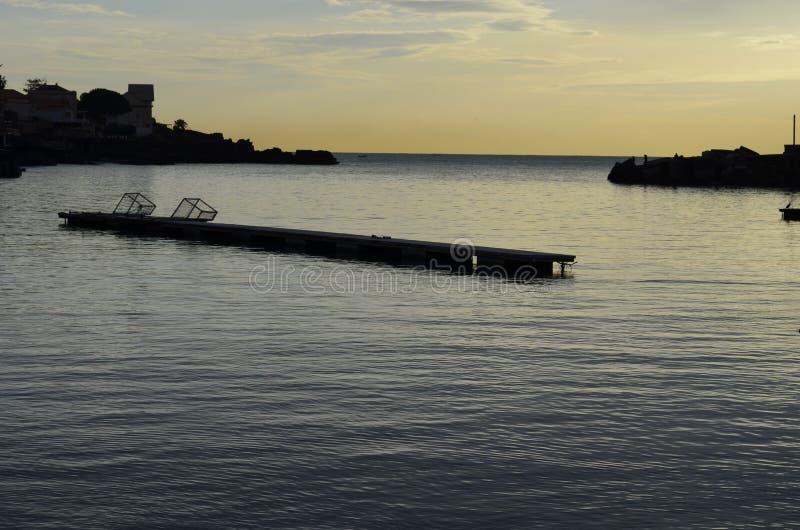 Port d'Ognina photographie stock