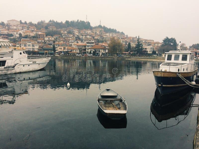 Port d'Ohrid photos libres de droits