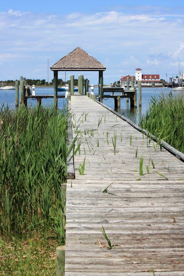 Download Port d'Okracoke image stock. Image du maisons, yacht - 45371653