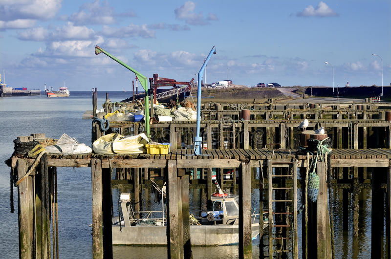 Port d'Ouistreham en France images stock