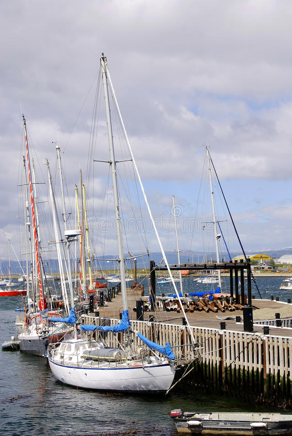 Port d'Ushuaia photographie stock libre de droits
