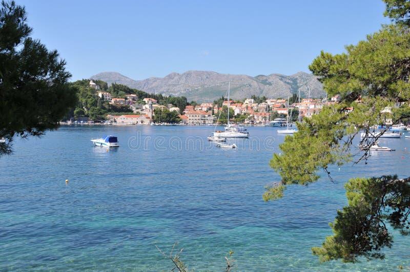 Port Dalmatie, Croatie de Cavtat photos stock