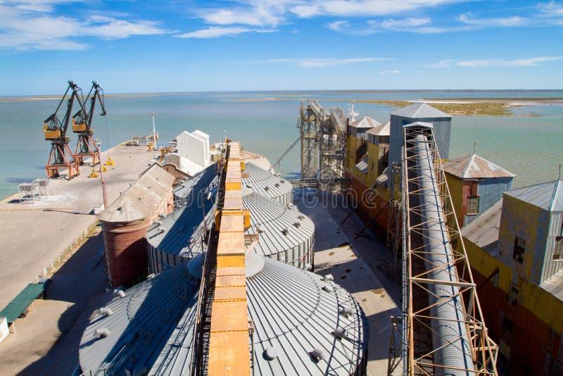 Port dans Blanca du Bahia, Argentine. images libres de droits