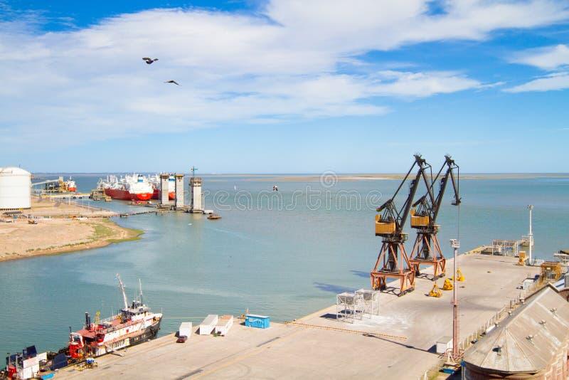 Port dans Blanca du Bahia, Argentine. photos stock