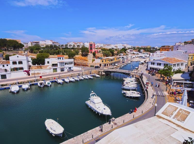 Port dans Ciutadella sur Minorca photo stock