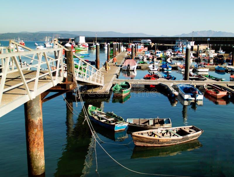 Port dans Finisterre Galicie Espagne images libres de droits