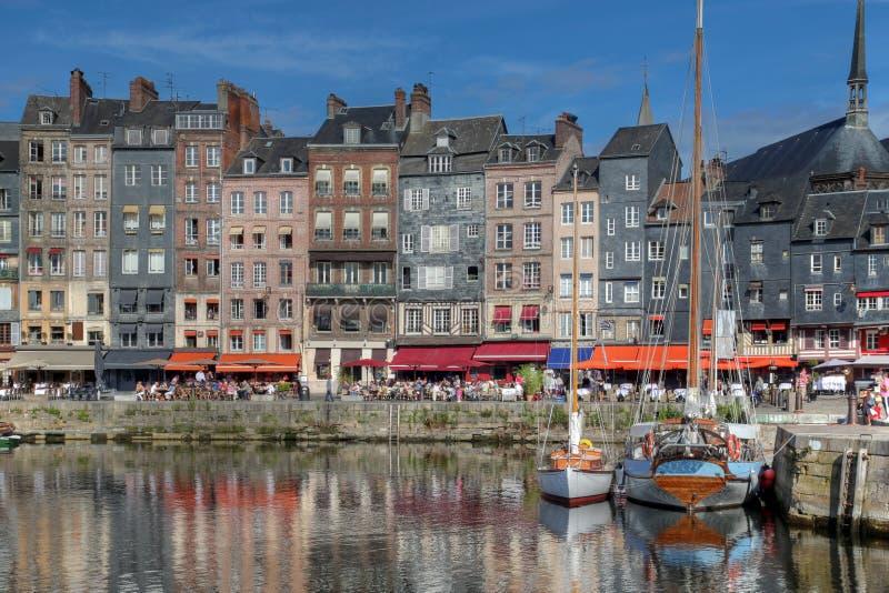 Port dans Honfleur, France photographie stock