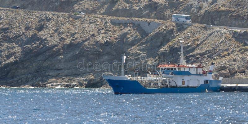 Port dans la caldeira de Santorini photo libre de droits
