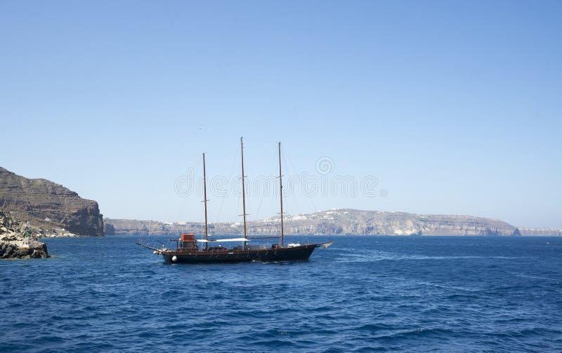Port dans la caldeira de Santorini photographie stock libre de droits