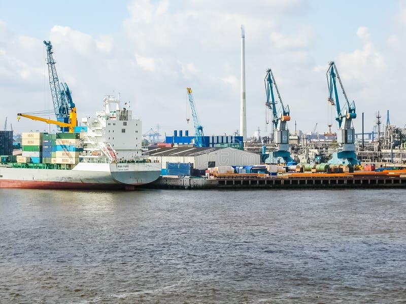 Port dans le hdr de Hambourg image stock