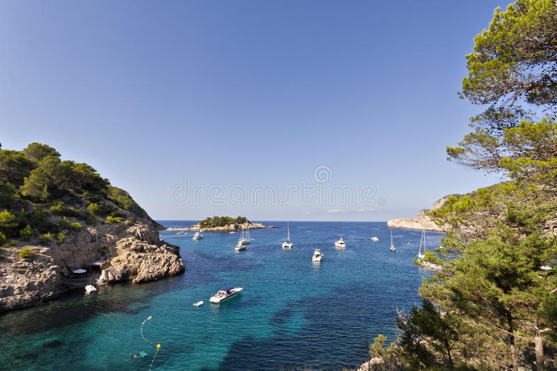 port de圣・ Miquel, Ibiza 免版税库存照片