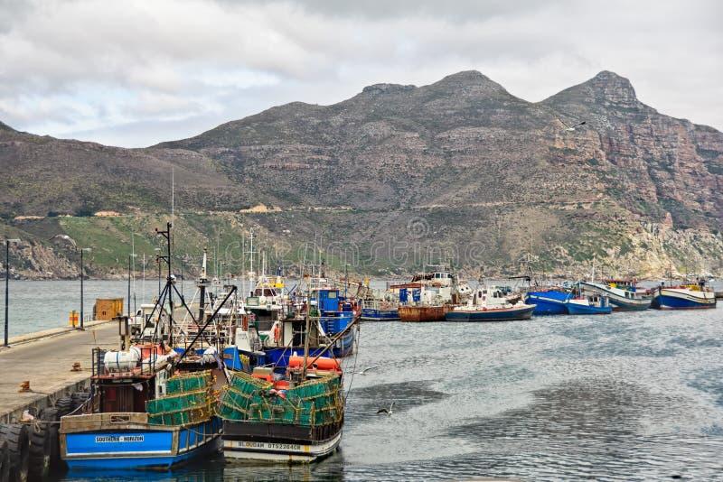 Port de baie de Hout et crête de Chapman, Cape Town photographie stock