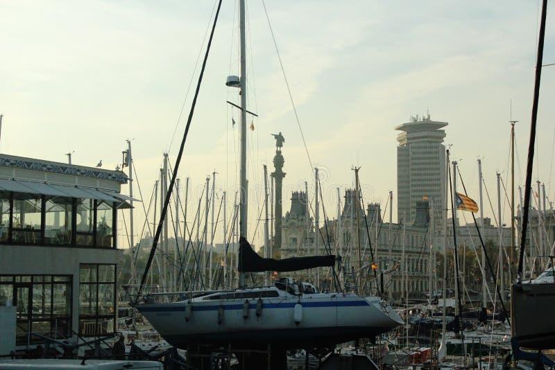 Port de Barcelone, Barcelone Espagne photo libre de droits