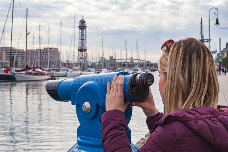 Port de Barcelone, bord de la mer photos stock