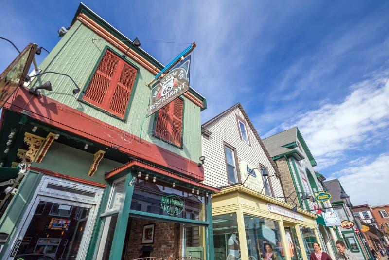 Port de barre dans Maine photographie stock libre de droits