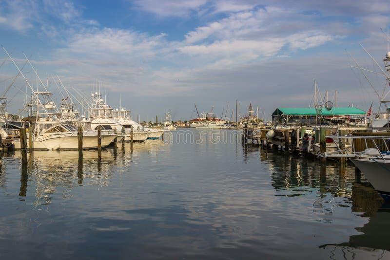 Port de bateau, port Aransas le Texas photographie stock