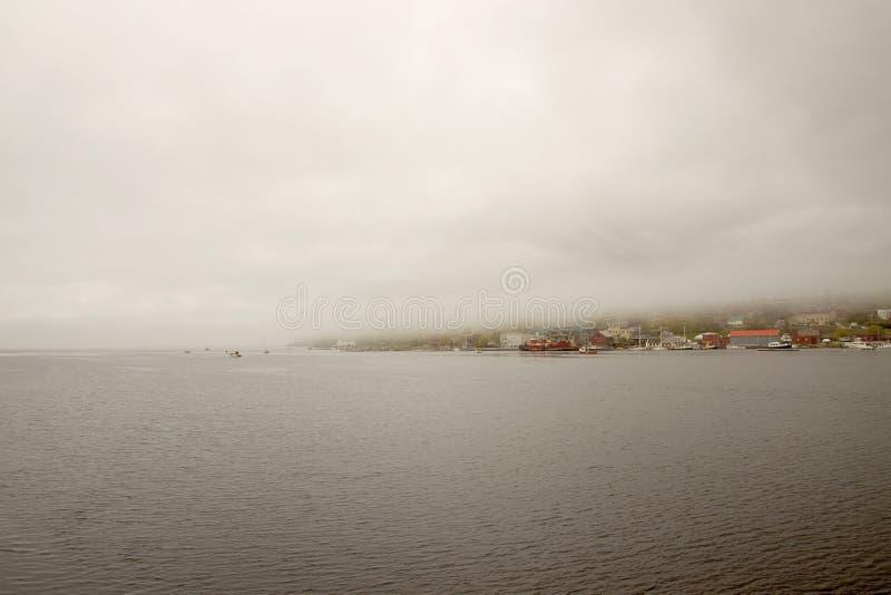 Port de Belfast de vue de début de la matinée photos stock
