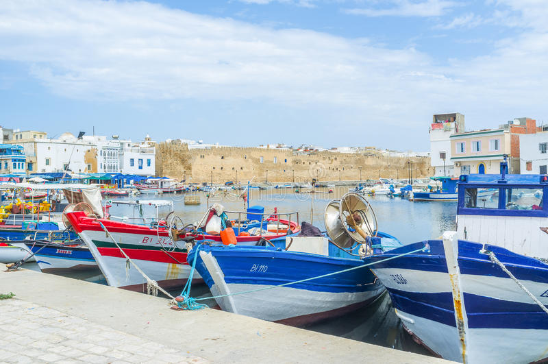 Port de Bizerte photos libres de droits