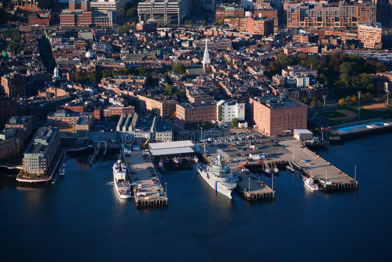 Port de Boston le matin images libres de droits