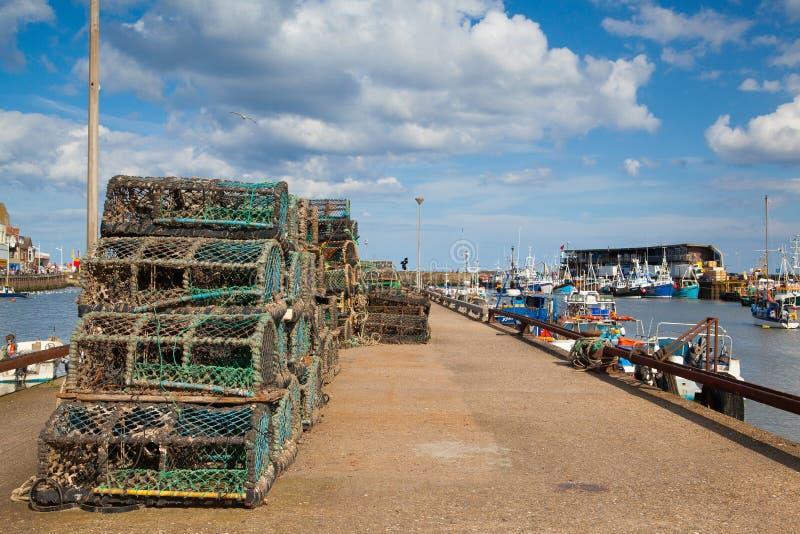 Port de Bridlington en Angleterre photographie stock