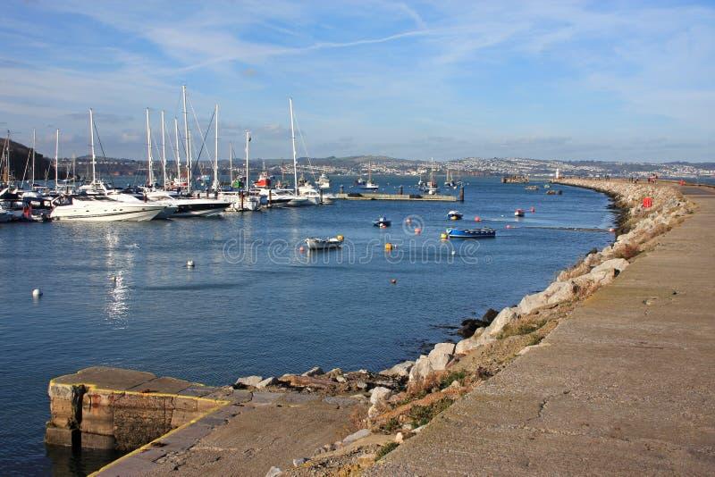 Port de Brixham images libres de droits