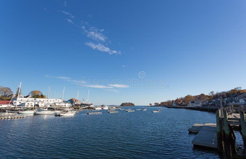 Port de Camden Maine photos stock