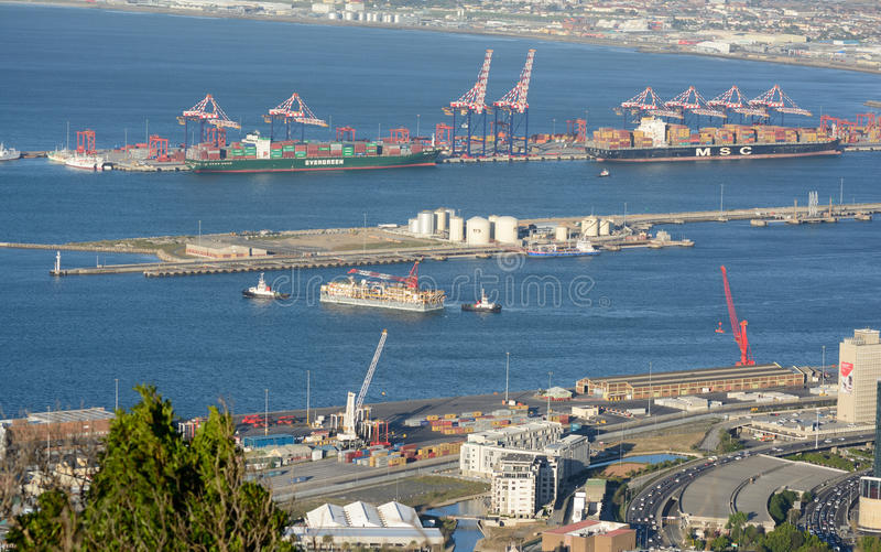 Port de Cape Town photo stock