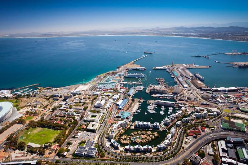 Port de Capetown photos stock