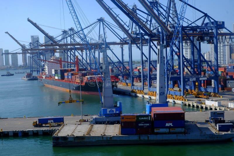 Port de Carthag?ne, Colombie photos stock