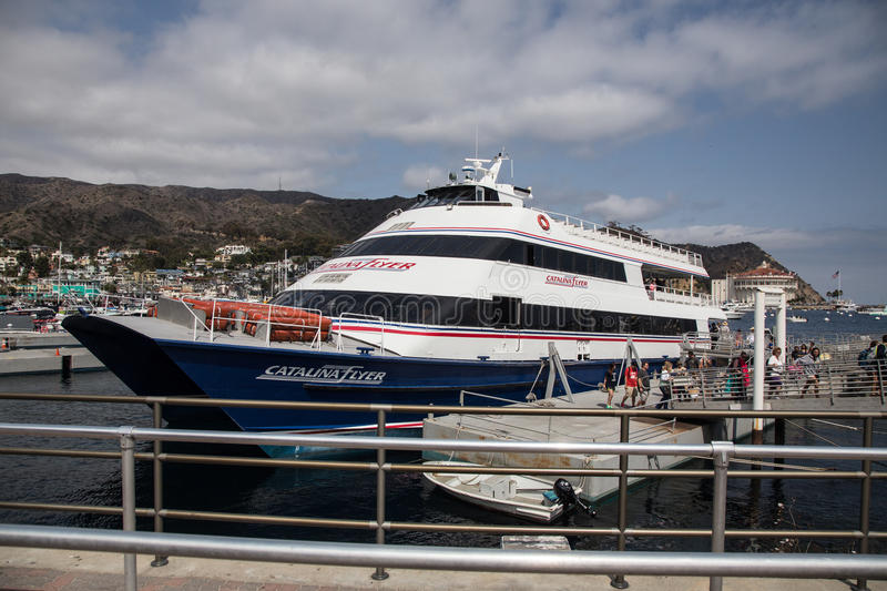 Port de Catalina Fyler Ferry Boat Avalon sur Catalina Island photo stock