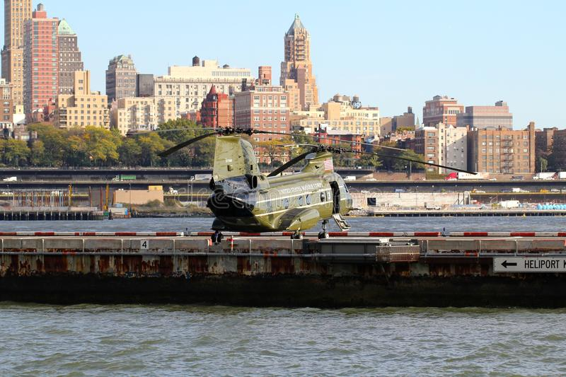 PORT DE CH-46E WALL STREET HELI image stock