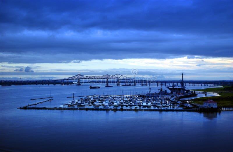 Port de Charleston la Caroline du Sud image stock
