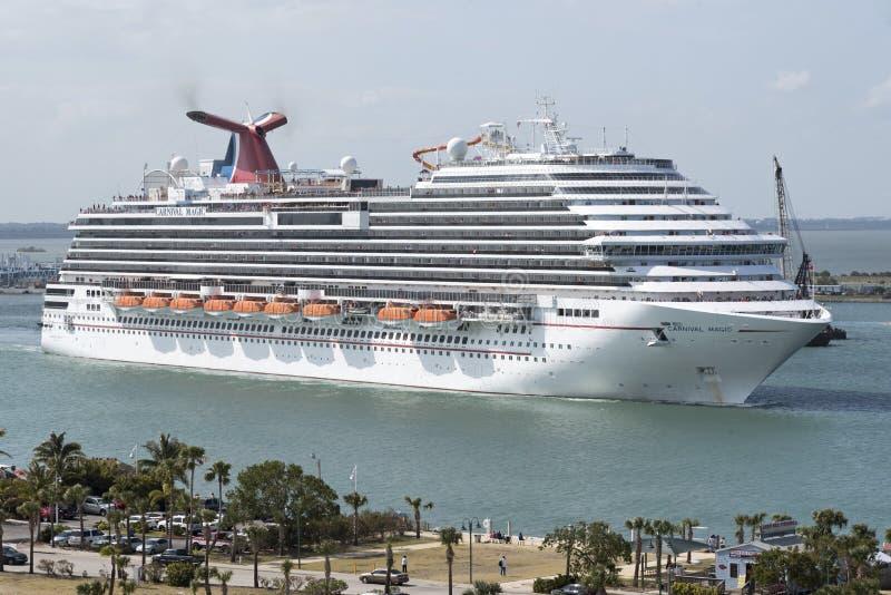 Port de départ Canaveral la Floride Etats-Unis de bateau de croisière photos stock