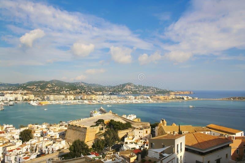 Port de Dalt Vila de serie d'Ibiza photographie stock