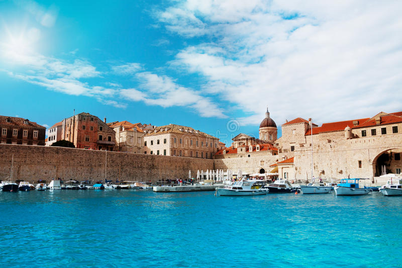 Port de Dubrovnik photos libres de droits