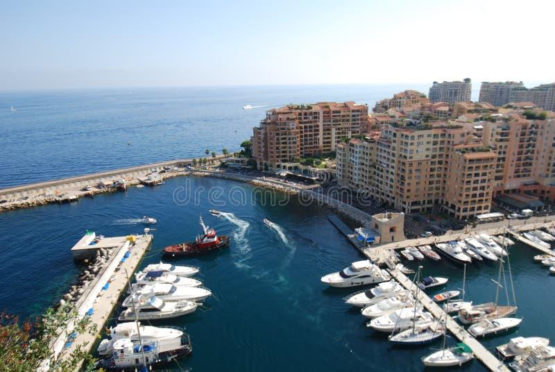 Port DE Fontvieille, Monaco, jachthaven, watervervoer, overzees, haven stock afbeelding