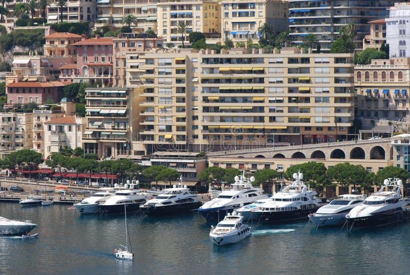 Port DE Fontvieille, Monte Carlo, jachthaven, watervervoer, haven, waterweg stock foto