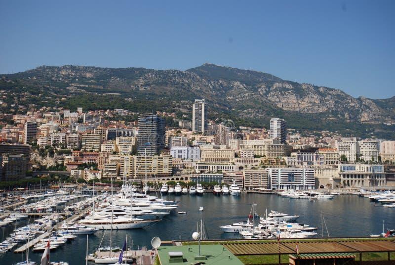 Port de Fontvieille, Monte Carlo, Prinz ` s Palast von Monaco, Luftbildfotografie, Stadt, Stadt, Stadtbild stockbild