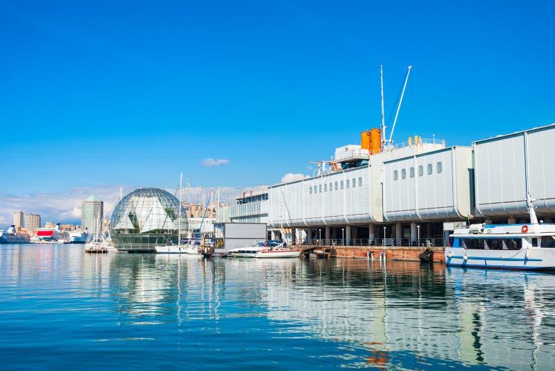 Port de Gênes en Italie du nord photo stock